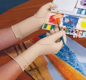 Compressie handschoen | hele vinger over de pols