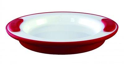 Warmhoudbord - wit / rood