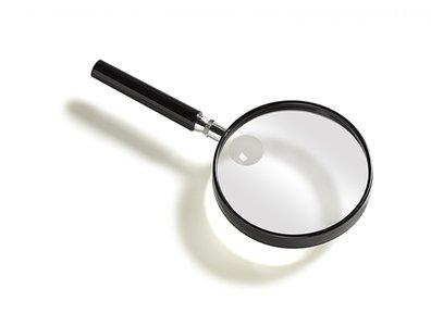 Vergrootglas rond - 9 cm.
